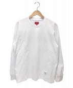 Supreme(シュプリーム)の古着「トレードマークロングスリーブトップ」 ホワイト
