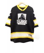 X-LARGE(エクストララージ)の古着「メッシュTシャツ」|ブラック×イエロー