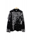 sacai(サカイ)の古着「FLORAL SHIRT」|ホワイト×ブラック