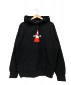 Supreme(シュプリーム)の古着「コーンフーデットスウェットシャツ」|ブラック