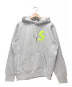 Supreme(シュプリーム)の古着「Sロゴフーデットスウェットシャツ」|ホワイト