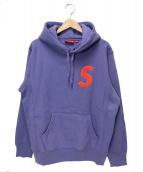 Supreme(シュプリーム)の古着「Sロゴフーデットスウェットシャツ」|パープル