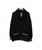 POLO RALPH LAUREN(ポロ バイ ラルフローレン)の古着「ショールカラーカーディガン」|ブラック