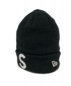 Supreme × NEWERA(シュプリーム × ニューエラ)の古着「Sロゴビーニー」 ブラック