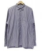 AURALEE(オーラリー)の古着「WASHED FINX TWILL STRIPE SHIRT」|パープル