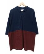 SHAREEF(シャリーフ)の古着「2TONE POLO SHIRTS」|ネイビー
