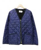 ARMEN(アーメン)の古着「キルティングジャケット」|ネイビー