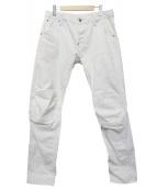 G-STAR RAW(ジースターロウ)の古着「3D SLIM JEANS」|ホワイト