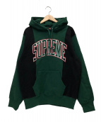 Supreme(シュプリーム)の古着「パネルドアーチフデットスウェットシャツ」|グリーン