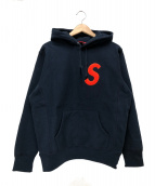 Supreme(シュプリーム)の古着「Sロゴフーデットスウェットシャツ」|ネイビー