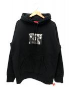 Supreme(シュプリーム)の古着「ザベルベットアンダーグラウンドフーデットスウェットシャツ」|ブラック
