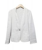 UNITED ARROWS(ユナイテッドアローズ)の古着「ノーカラージャケット」|ベージュ