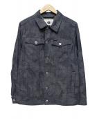 G-STAR RAW(ジースターロウ)の古着「総柄ジャケット」|ブルー