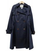 LAISSE PASSE(レッセパッセ)の古着「トレンチコート」|ネイビー