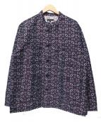 Engineered Garments(エンジニアードガーメンツ)の古着「Classic Shirt - Floral Jacguar」|パープル