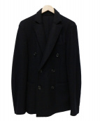 Rags McGREGOR(ラグスマックレガー)の古着「ウールダブルブレストジャケット」|ネイビー