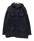 Serge Blanco(セルジュブランコ)の古着「ウール中綿コート」|ネイビー