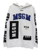 MSGM(エムエスジーエム)の古着「プルオーバー スウェットパーカー」|ホワイト