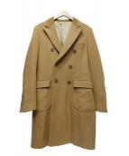 UNUSED(アンユーズド)の古着「ウールアンゴラ混コート」|キャメル