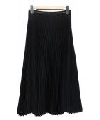 PRADA(プラダ)の古着「Divisa ツイルプリーツスカート」 ブラック