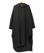 B Yohji Yamamoto(ヨウジヤマモト)の古着「ロングシャツ」|ブラック