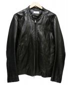 Luis(ルイス)の古着「スタンドカラーラムレザージャケット」|ブラック