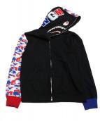 A BATHING APE(エイプ)の古着「shark hoodie」|ブラック