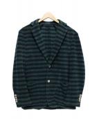 TOMORROW LAND PILGRIM(トゥモローランドピルグリム)の古着「パイルジャケット」|グリーン×ネイビー