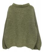 TODAYFUL(トゥデイフル)の古着「オーバーサイズブレイドニット」|グリーン