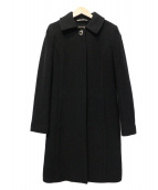COACH(コーチ)の古着「ヴァージンウールステンカラーコート」|ブラック