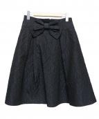 MS GRACY(エムズグレイシー)の古着「ジャガードスカート」|ブラック