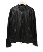 GIORGIO BRATO(ジョルジオブラット)の古着「シープレザージャケット」|ブラック