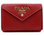 PRADA(プラダ)の古着「SAFFIANO METAL WALLET」|レッド