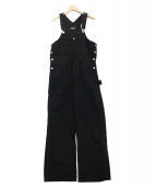 HOLIDAY(ホリデイ)の古着「BIG DENIM OVER-ALL」|ブラック