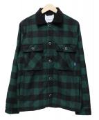 Lafayette(ラファイエット)の古着「CPO WOOL SHIRT JACKET」|ブラック×グリーン