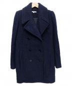CARVEN(カルヴェン)の古着「メルトンPコート」|ネイビー