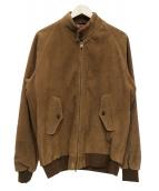 BEAMS PLUS(ビームスプラス)の古着「スウェードハリントンジャケット」|ブラウン