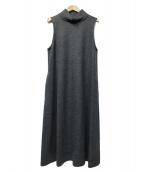 NIMES(ニーム)の古着「アドリアーナミルタビスムース ハイネックOP」|グレー