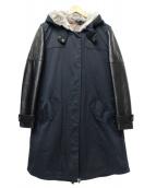 DOUBLE STANDARD CLOTHING(ダブルスタンダードクロージング)の古着「コットンツイルモッズコート」|ブラック×ネイビー