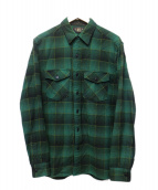 RRL(ダブルアールエル)の古着「チェックシャツ」 グリーン