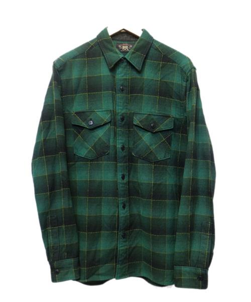 RRL(ダブルアールエル)RRL (ダブルアールエル) チェックシャツ グリーン サイズ:Mの古着・服飾アイテム