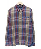 RRL(ダブルアールエル)の古着「チェックシャツ」 ブルー