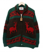 CANADIAN SWEATER(カナディアンセーター)の古着「カウチンセーター」|ブラウン×グリーン
