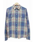 POLO RALPH LAUREN(ポロラルフローレン)の古着「チェックシャツ」|ブルー×グリーン
