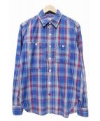 Engineered Garments(エンジニアードガーメン)の古着「チェックシャツ」 ブルー×レッド