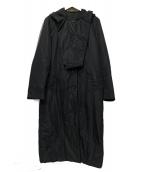 PRADA(プラダ)の古着「中綿コート」|ブラック
