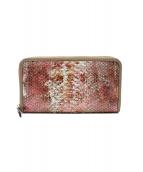 ACAMAL(アカマル)の古着「ロングウォレット パイソン長財布」|ピンク