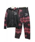 24karats(トウェンティフォーカラッツ)の古着「セットアップジャージ」|ピンク×ブラック