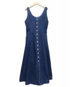 moussy(マウジー)の古着「BUTTON UP DENIM DRESS」 ブルー