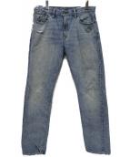RRL(ダブルアールエル)の古着「ダメージジーンズ」|ブルー